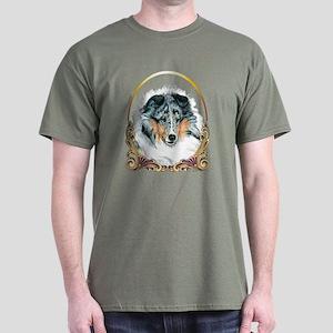 Merle Sheltie Christmas Dark T-Shirt