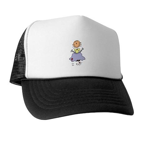 I Knit Stick Figure Trucker Hat