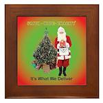 The Masonic Christmas Promise Framed Tile