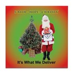 The Masonic Christmas Promise Tile Coaster