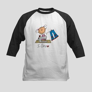 I Sew Stick Figure Kids Baseball Jersey