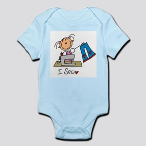 I Sew Stick Figure Infant Bodysuit