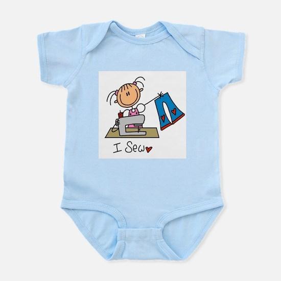 I Sew Stick Figure Infant Bodysuit