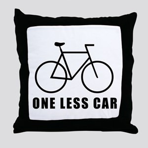 One less car - cycling Throw Pillow