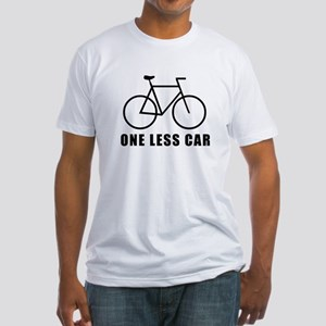 One less car - cycling Fitted T-Shirt