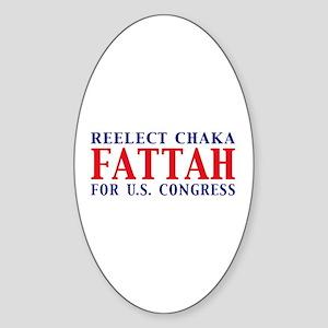 Reelect Fattah Oval Sticker