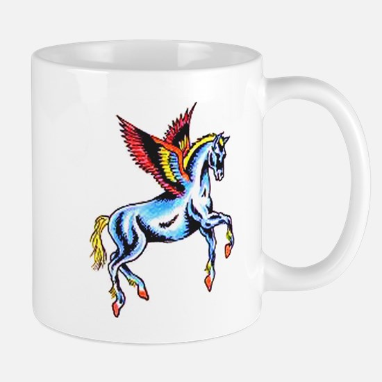 Fantasy Flying Horse Tattoo Mug