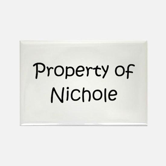 Funny Nichole Rectangle Magnet