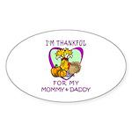 Thanksgiving Kids Sticker (Oval 10 pk)