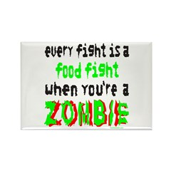 ZOMBIE FOOD FIGHT Rectangle Magnet (100 pack)