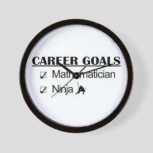 Mathematician Career Goals Ninja Wall Clock