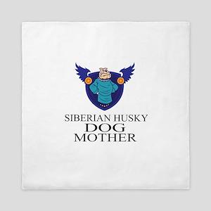 Siberian Husky Dog Mother Queen Duvet