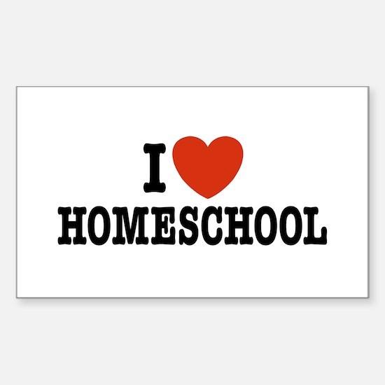 I Love Homeschool Rectangle Decal