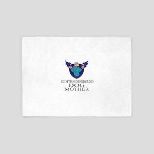 Scottish Deerhound Dog Mother 5'x7'Area Rug