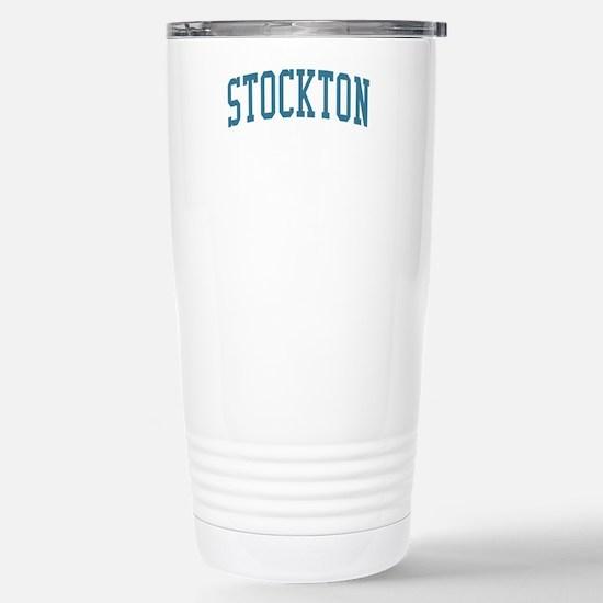 Stockton New Jersey NJ Blue Stainless Steel Travel