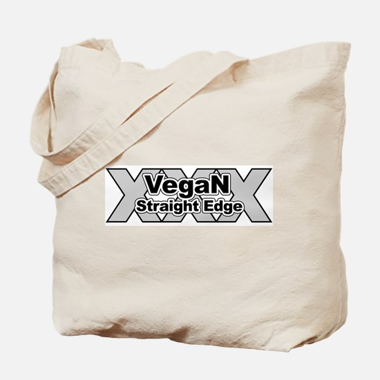 Vegan Straight Edge Tote Bag