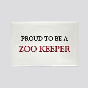 Proud to be a Zoo Keeper Rectangle Magnet