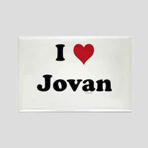 I love Jovan Rectangle Magnet