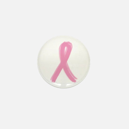 BRUSHED PINK RIBBON (BREAST C Mini Button