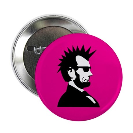 """Abraham Lincoln Rocks! 2.25"""" Button (10 pack)"""
