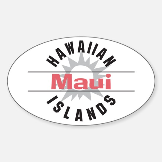 Maui Hawaii Oval Decal