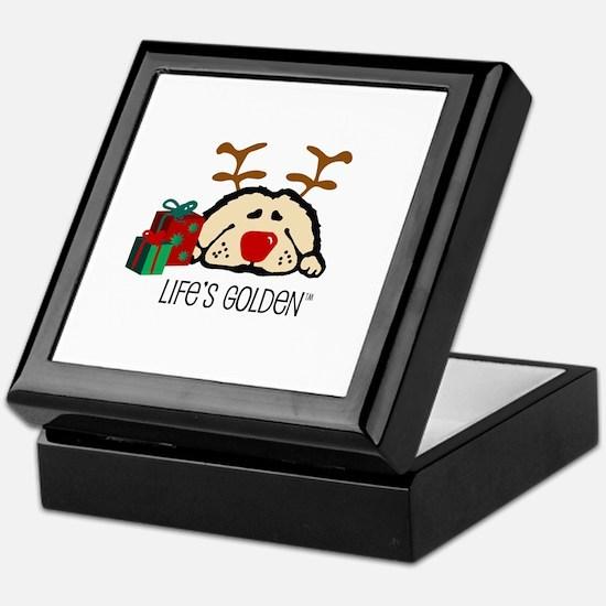 Life's Golden Rudolph Keepsake Box