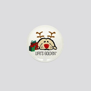 Life's Golden Rudolph Mini Button