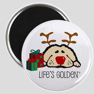 Life's Golden Rudolph Magnet
