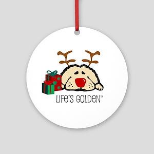 Life's Golden Rudolph Keepsake (Round)