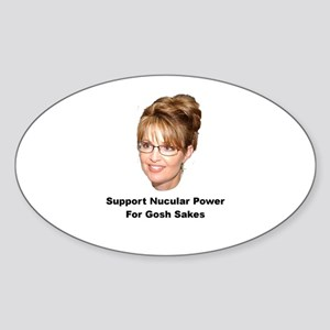 Support Nucular Power For Gos Oval Sticker