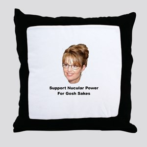 Support Nucular Power For Gos Throw Pillow