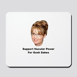 Support Nucular Power For Gos Mousepad