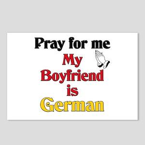 Pray for me my boyfriend is German Postcards (Pack