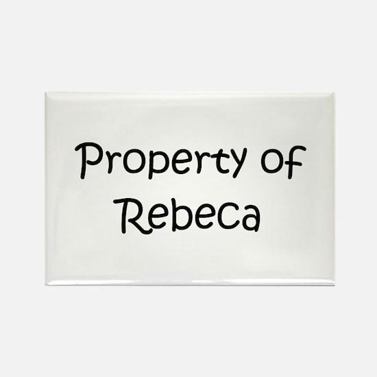 Funny Rebeca Rectangle Magnet