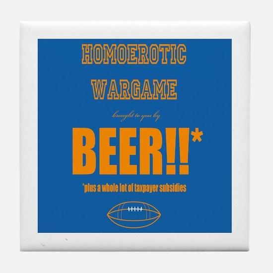 Unique Beer football Tile Coaster