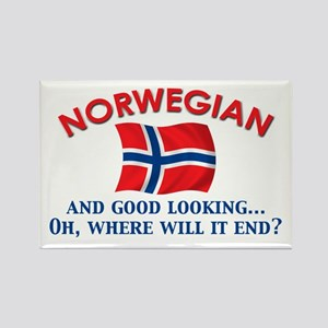 Good Lkg Norwegian 2 Rectangle Magnet