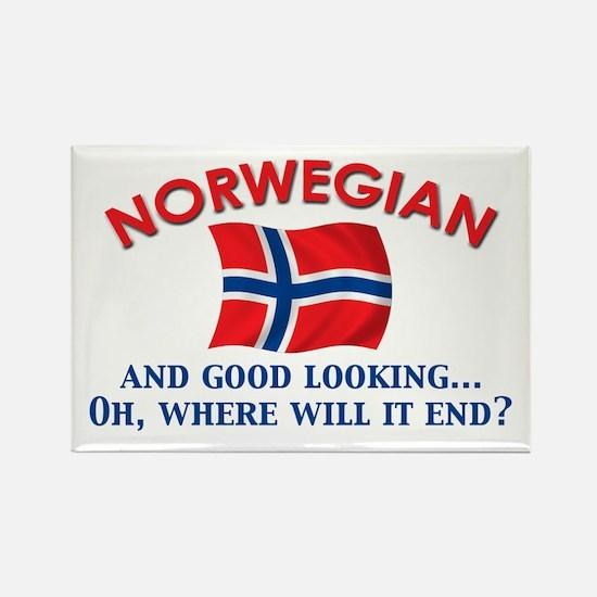 Good Lkg Norwegian 2 Rectangle Magnet