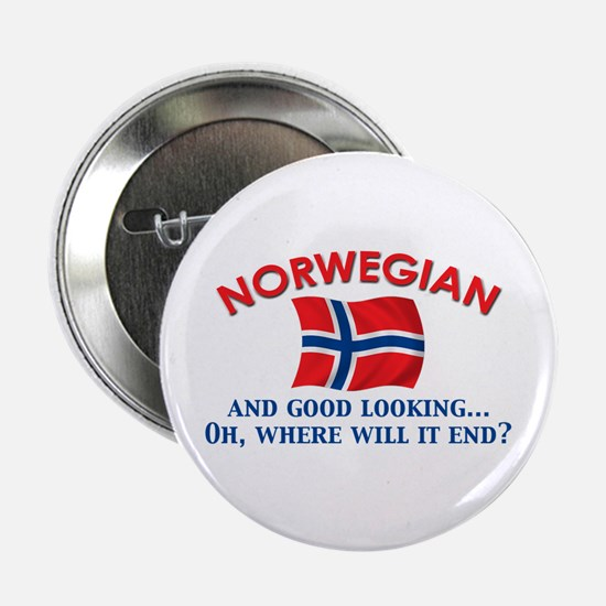 "Good Lkg Norwegian 2 2.25"" Button"