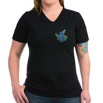 Euphonium Holly Women's V-Neck Dark T-Shirt