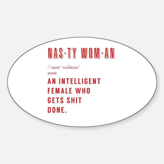 Womens lib Sticker (Oval)