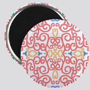Art Nouveau (Black/Salmon) Magnet