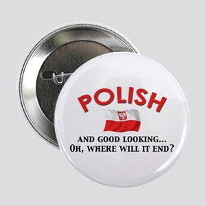 "Good Lkg Polish 2 2.25"" Button"