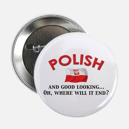"Good Lkg Polish 2 2.25"" Button"