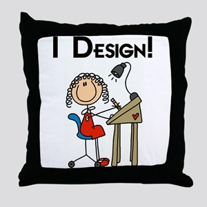 I Design Throw Pillow
