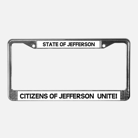 Cool North california License Plate Frame