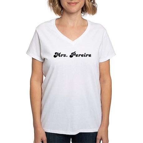 Mrs. Pereira Women's V-Neck T-Shirt