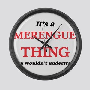 It's a Merengue thing, you wo Large Wall Clock