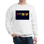 Color-Coded Chaos Sweatshirt