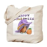 Halloween Tote Bag (LadyBug's Witch Hat)