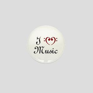 I Heart (Love) Music Mini Button